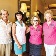 Second place team TFW Back: Rosemary Palmer (SCG), Monika Charlesworth, Barbara Hockert, and Maureen Plate.