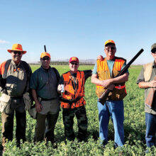 The hunters (left to right): Bill Wagner, Bobby Kethcart, Dave Paulsen, Dan Borchers, and Pete Bahnmueller.