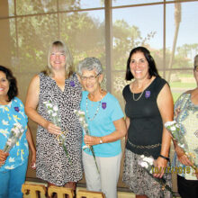 The newest initiates (left to right): CeCe Comstock, Sandy Schaefer, Lucette Gurley, Carol Rice, and Eileen Lamparelli.