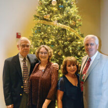 Left to right: Joe and Patty McEnerney and Frankie and Chuck Veltri just prior to the beginning of the Winter Wonderland Holiday Party.