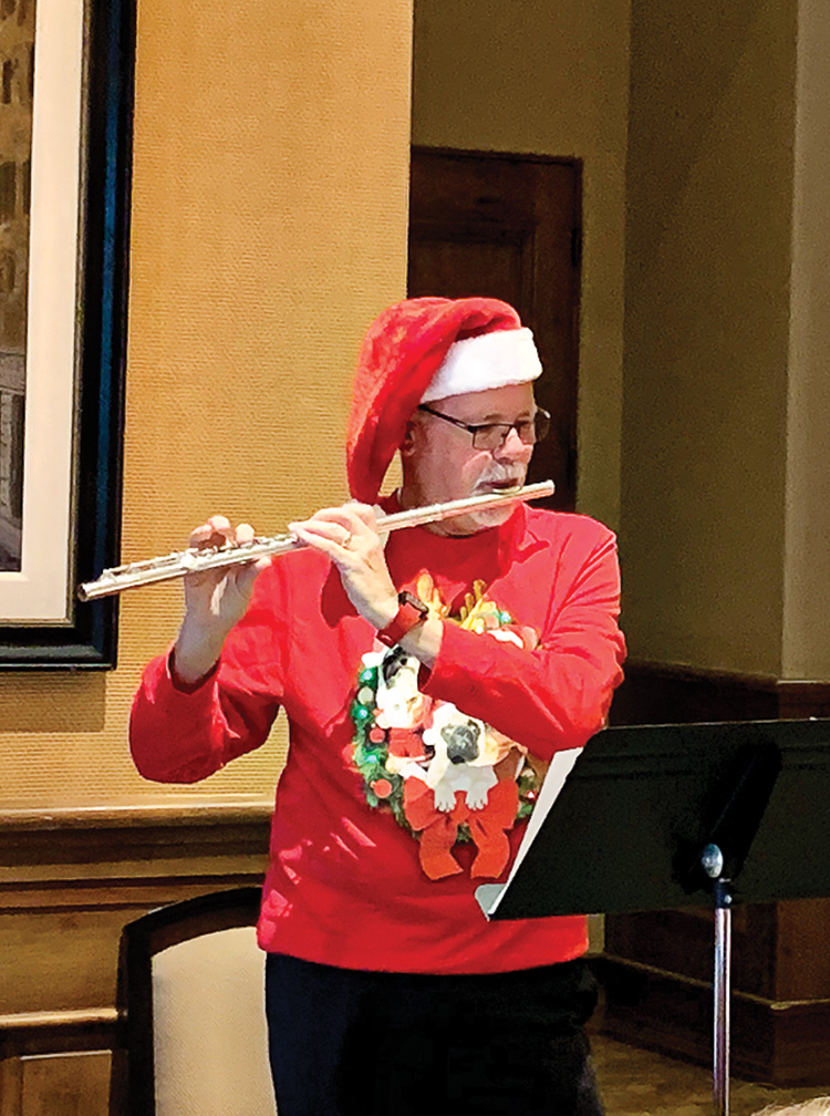 Jerry Drake playing the flute