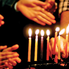 "The Shalom Club celebrated a traditional Chanukah celebration. The holiday is known as the ""Festival of Lights."""