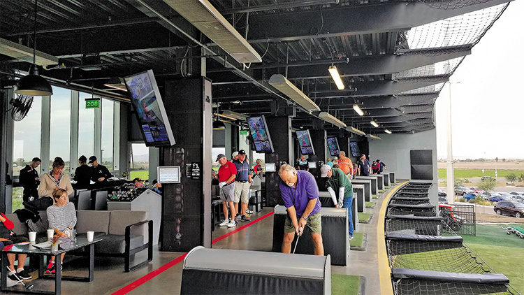 PCM9GA Golfing Niners and friends tee it up at Top Golf.