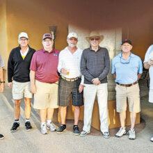 PCM9GA 2-low-net winners (left to right): Nick Isenhart, Bernie Bangert, Bill Lansing, Jay Ward, Rob Risden, Jim Dickie, and Steve Rottger