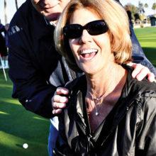 Rotary Club member Jim Frey with PebbleCreek resident Maria Elena Bogwald, winner of $3,000 in the Rotary Club Charity Golf Tournament Ball Drop event