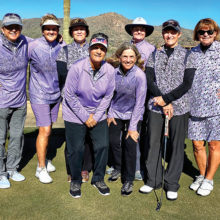 The team gets ready to plan Anthem's Ironwood course: Ellen Enright, Sharon Hadley, Mary Harris, Andrea Dilger, Marilyn Reynolds, Sheri Sears, Sarah Marsh, and Kathy Hubert-Wyss.