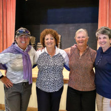 From left: Ellen Enright, Carolyn Apodaca, Donnie Meyers, and Valerie Bobigian