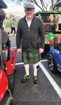 Bill Greenhoot won men's best Wearin' o' the Green.