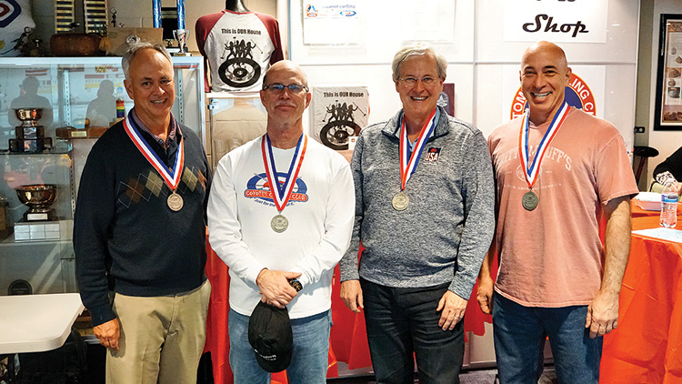 Team LeClair (left to right): Bob LeClair, Greg Gallagher, Jeff Baird, and Tom Danielson