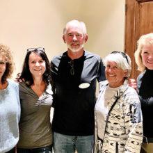 Newly elected PC Pickleball Club board (left to right): Lindsay Laven, Judy Parker, Jim Barbe, Martha Urbin, and Lezlee Leonardi