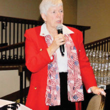Sue Harrison, vice president, conducted the Missing Man Table ceremony last year.