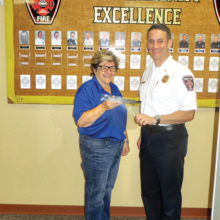 President-elect Joan Smith and Chief Paul Luizzi