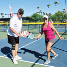 Sherm and Mikki Leach; loaner paddles by Deb Smedley, Selkirk Representative