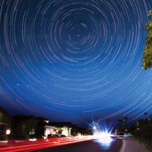 Impressive Star Trail photo taken from the comfort of PebbleCreek by Camera Club member Gene Fioretti.