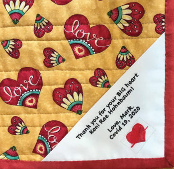A portion of Koni's quilt made by the PC Quilters