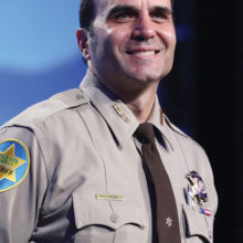 Sheriff Paul Penzone spoke with the PebbleCreek Democratic Club during their July meeting.