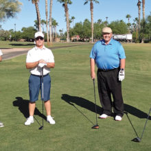 PC golf pros play with PCM9GA (left to right): Rob Risden, Dave Vader, Chris Mucha, and Rich McCurdy.