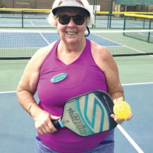 Joanne Burch on the PebbleCreek pickleball courts