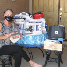 Christy Vezolles collects donations
