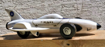"Joel Hawkins carved his ""Concept Racing Car."""
