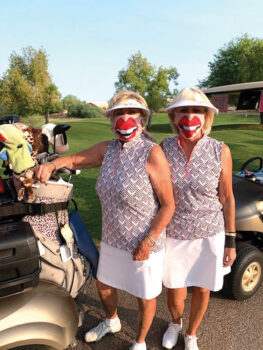 (Left to right) Donna Havener and Kathi Curtis. Kathi won closest-to-the-pin on Hole 9.