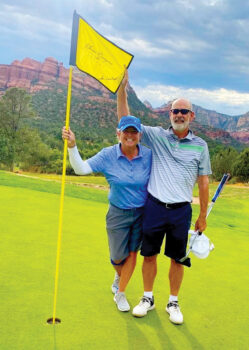 (Left to right) Ellen Enright and Jeff Furnia in seventh heaven at Seven Canyons Golf Club.