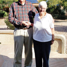 Bill and Molly Todd celebrate 60 years of marriage.