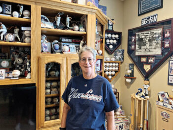Beth Kelly in The Baseball Room in her PebbleCreek home.