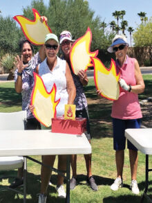 Left to right: Andrea Dilger, Chanca Morrell, Susan Slaughter (Chair), and Kathy Smith, found their flames!