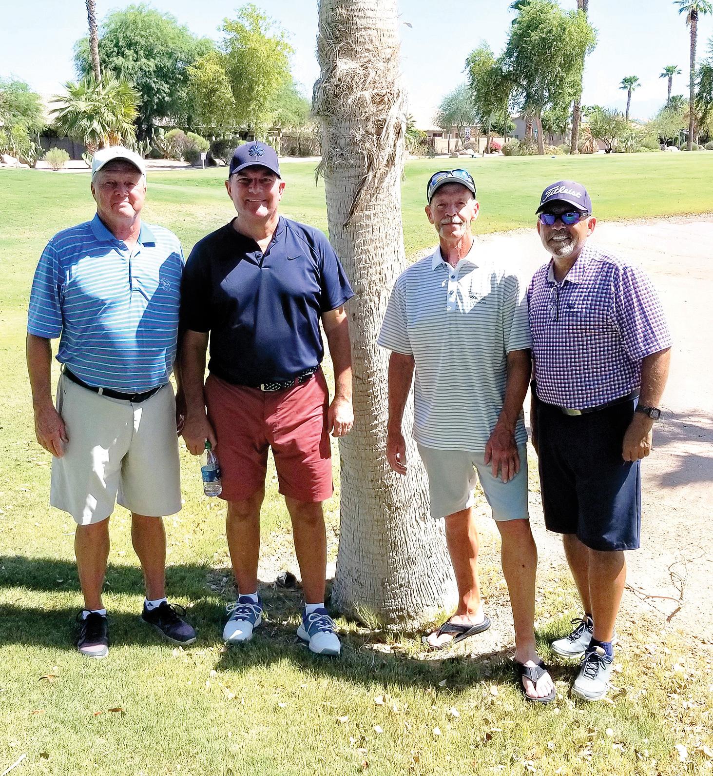 Gross/net flight winners (left to right): Bill McKinney, Brian Lorenzo, Dave Green, and Reuben Rivera