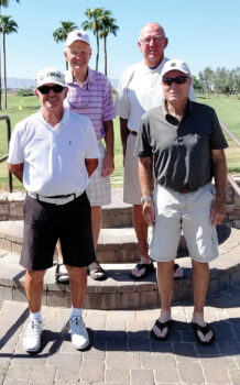 Super Senior Flight Winners; Top row (left to right): Dan Graville and Dick Wiederhold; Front row: Bruce Carlyle and Rich Jesko