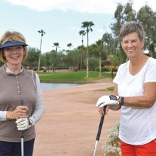 Vicki Norrie (left) and Mary Falso