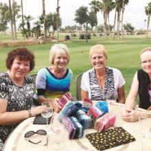 The beginning of the Stephanie Project. Audrey Dewan, Bobbie Wagner, Carole Schumacher, and KayCee Christenson embarked on sewing charity quilts in April 2018.