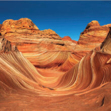 This picture of The Wave, in northern Arizona near Kanab, Utah, provides a beautiful example of Nic Stover's photography featuring the Desert Southwest.