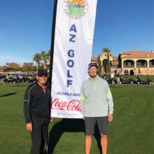 Reuben Rivera (left) and Dave Green compete at AGA Finals.