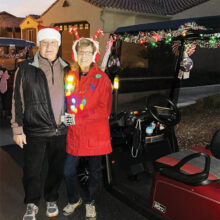 Bob and Linda Wainman ready to help navigate the 2020 62B Holiday Lights Tour.