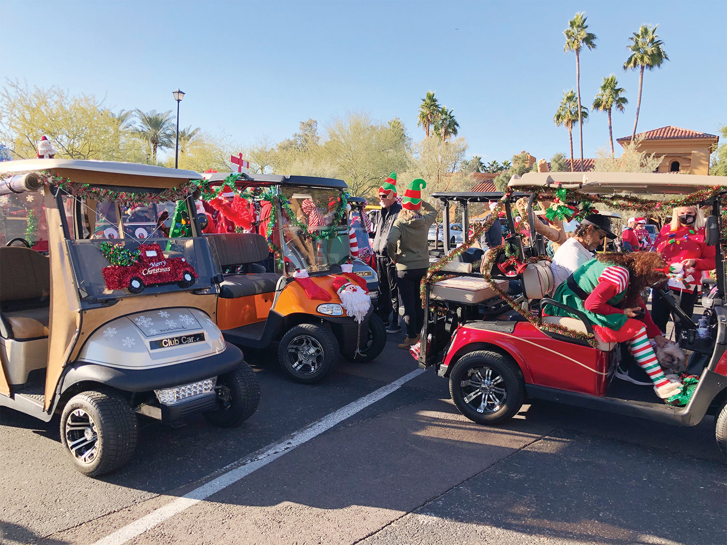 The Christmas Cart Parade and Food Drive team