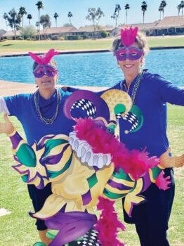 Andrea Dilger (left) and Teresa Christianson