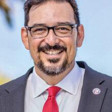 Adrian Fontes, Esq. spoke at the PebbleCreek Democratic Club meeting in May.