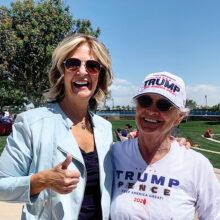 Dr. Kelli Ward, Republican Party of Arizona chairwoman, and Lola Jorgensen, PCRC member