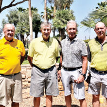 PCMGA officers (left to right): Ken Schumacher, Jack Stipp, Roger Douglas, and John Abercrombie