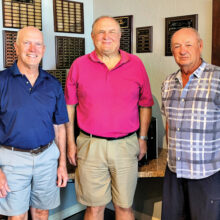 PCMGA Matchplay Tourney Organization Team (left to right): Clint Hull, Steve Straley, and Ken Schumacher