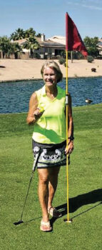 Sandra Nielson scores her first ace!